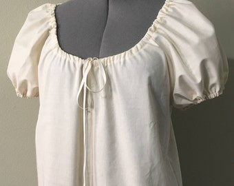 100% Cotton Any Color Peasant Chemise Top with Puff Sleeves - by LoriAnn  Costume Designs Renaissance or Medieval Faire XS S M L XL 2X 3X 3a051d8ff