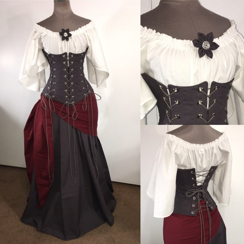 """Goth GROMMET Cosplay Trim  BTY 3//4/""""  **STRONG WHITE** Corset"""