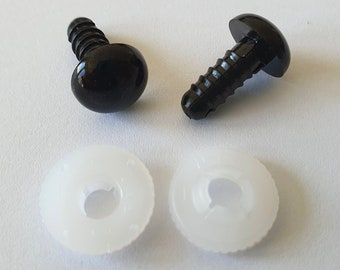 10.5 mm safety eyes black