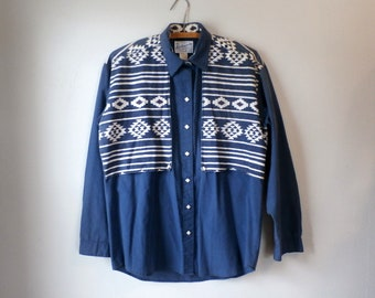 Porter des Vintage Rockmount Ranch hommes Western Shirt, boutons pressions nacrés (M) Made in USA