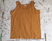 Vintage NOS Gold Cotton Tank Top - Anvil Tank Tee - NOS Deadstock (Mens LG)