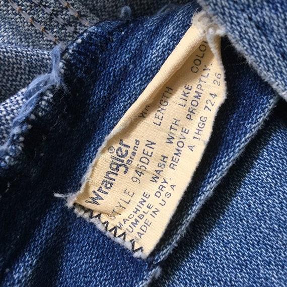 Vintage 70s Wrangler Denim Bootcut Jeans, 1970s B… - image 6