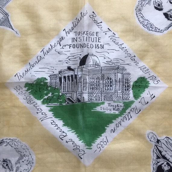 Vintage 1940s 1950s Tuskegee Institute Silk Scarf… - image 2