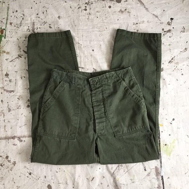 1960s – 70s Men's Ties | Skinny Ties, Slim Ties Vintage 1960S Vietnam Us Army Og 107 Type 1 Pants60S Button Fly Field Trousers 3131 $18.95 AT vintagedancer.com