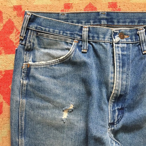 Vintage 70s Wrangler Denim Bootcut Jeans, 1970s B… - image 4