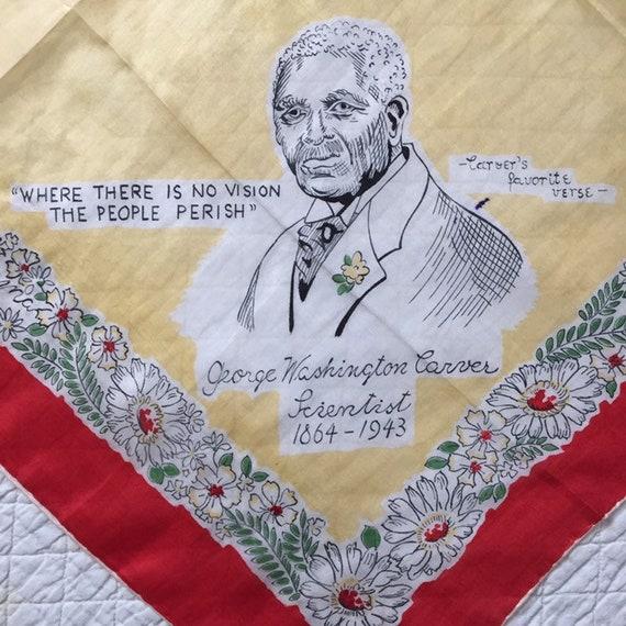 Vintage 1940s 1950s Tuskegee Institute Silk Scarf… - image 4