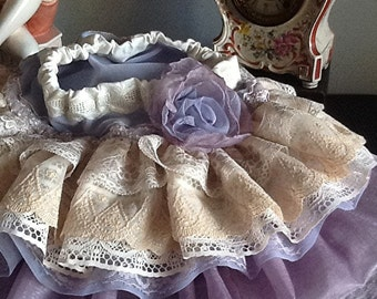Vintage lace skirt,Wedding flower girl, birthday girl skirt,   Vintage lace lavender, elegant, made USA, The Rebecca ruffled skirt orchid