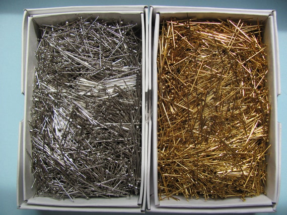 "1/"" Half Pound Box Sequin Pins GOLD or SILVER 1//2/"" 3//4/"""