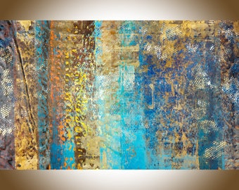 """Abstract painting 60""""x 36"""" large wall art canvas art original artwork home decor office decor gift for man gift for her by QiQiGallery"""