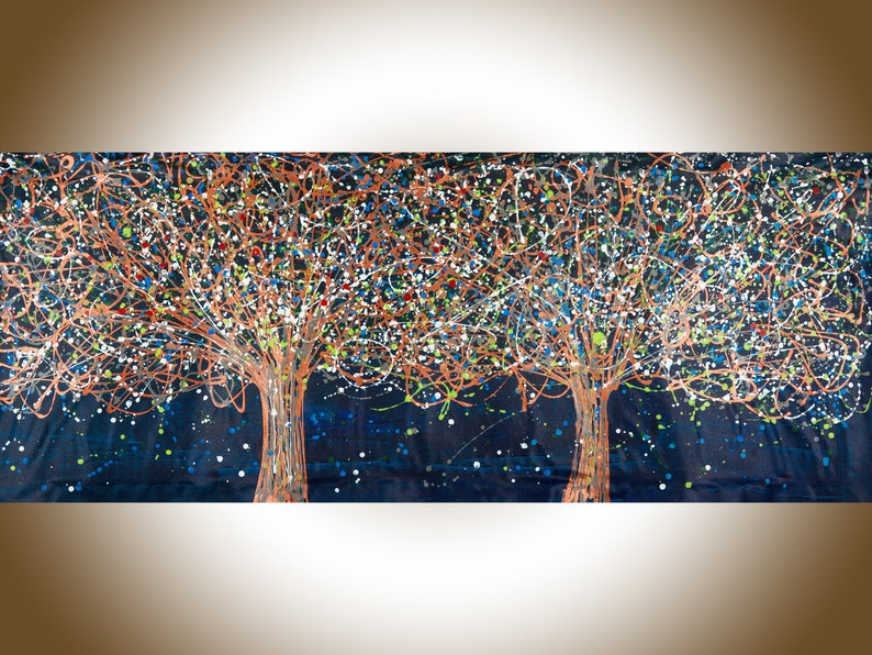 72 Painting Jackson Pollock inspired Tree landscape image 0