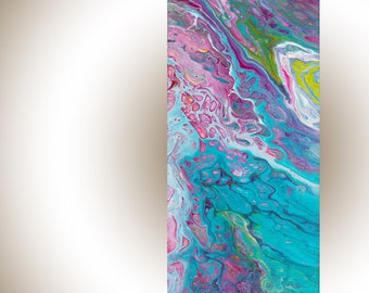 """Fluid art Acrylic fluid painting Abstract art abstract painting original art wall art wall decor wall hanging """"Flora"""" by qiqigallery"""