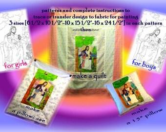 JESUS LOVES ME-Girl's Quilt Pattern