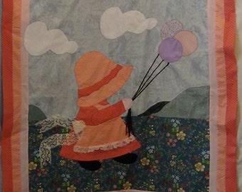 ENALRGED SUNBONNET SUE Baby quilt