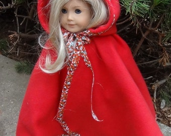 HOODED CAPE PATTERN for American Girl Dolls