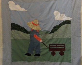 ENLARGED OVERALL SAM Baby Quilt
