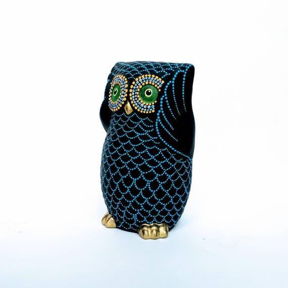 Owl Bank Hand painted Owl coin bank Piggy Bank