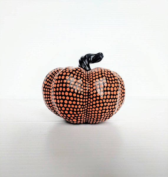 Pumpkin orange and black hand painted pumpkin