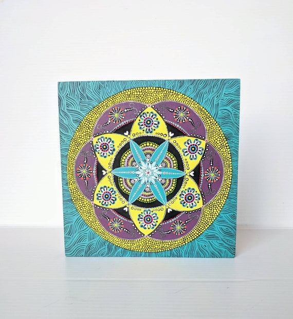Mandala Painting on board