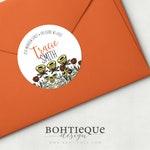 Sunshine Flowers Glossy Adhesive Return Address Labels