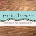 Sketchy Vine Custom Return Address Stickers with Color Options