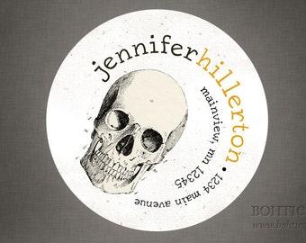 Skull Halloween Personalized Return Address Label