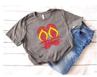 7400e69729eda Ladies Flip Flop Tshirt