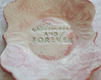 Handmade Ceramic Wedding Favors, Trinket Dishes, Remberance Dish,
