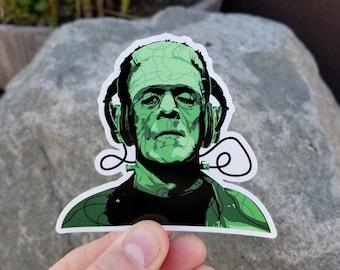 Frankenstein's Monster Beats - Sticker