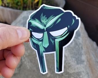 MF DOOM MASK Sticker- Green