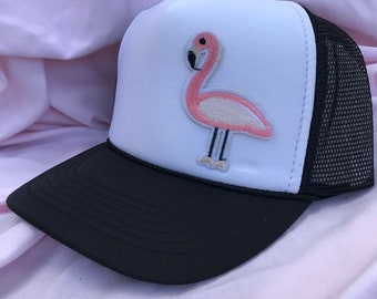 Pink Flamingo Trucker Hat Youth Size