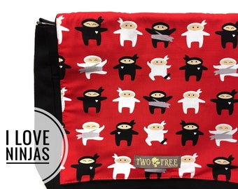 NEW Love Ninjas Messenger Book Laptop iPAD Diaper BAG