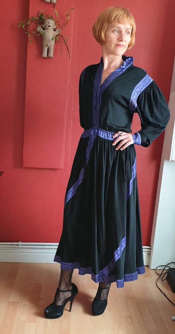Janice Wainwright purple and black Medieval Goth d