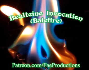 Bealteine Invocation (BALEFIRE) Faery Glamour, Instant Download Page Urban An Leabhar Book of Secrets, Glamerie Pages, BOS