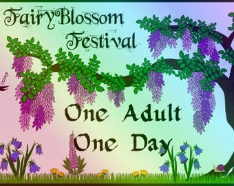 ADULT 1 DAY Pass to FAIRYBLOSSOM Festival Midsummer Games, June 29 - Jul 1, 2018, Fairy, Pirate, Mermaid, Fantasy, Faire