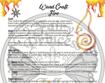 WAND Craft: FIRE Spell Fairy Glamour - Magic Wand Motion & Incantation - Book of Secrets, Glamerie, BoS Grimoire - Instant Download Page