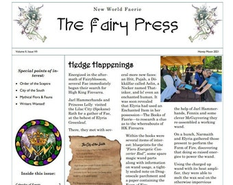 Newsletter No.11 THE FAIRY PRESS July 2021, Instant Download, HeDGE Chronicles, FaE Productions