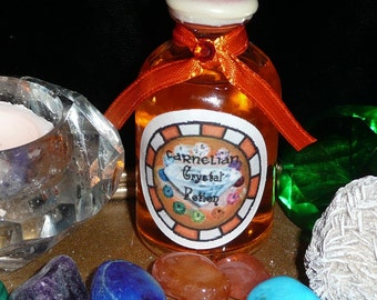 Discovery, Actualize Magic POTION, CARNELIAN Crystal Activated MOON Water, Fairy, Wicca, Pagan, Hedgecraft, Greencraft