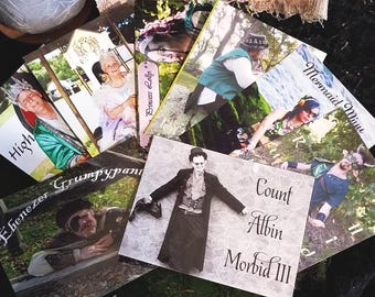 FAIRY COURT Postcards, Dross Discount Avail, SET of 8 Ready to Mail