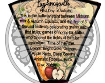 LUGHNASADH Wheel of SEASONS - Build a Wheel of the Year - Glamour - Fae Magic, Book of Secrets, Glamerie, BoS, Lammas- Instant Download Page