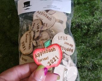 Applebash 2021 Event Pin for FAE Productions LARP Events, Harvest Campout, Barter Fest