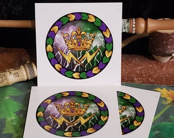 """Kingdom of STORMs LG 3"""" STICKER Round, FAE Productions Events, FAiRYBLOSSOM Midsummer, New Faerie"""