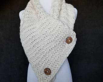 Oversized Herringbone Scarf (Ready to Ship)