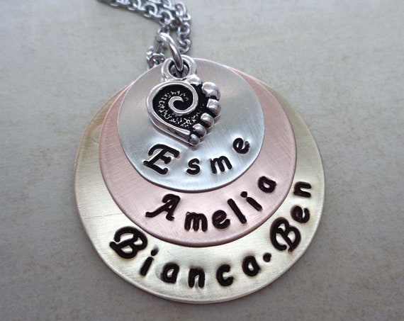 Mothers Day Jewelry / Personalized Names Necklace / Mom Gift / Nana Mimi Jewelry