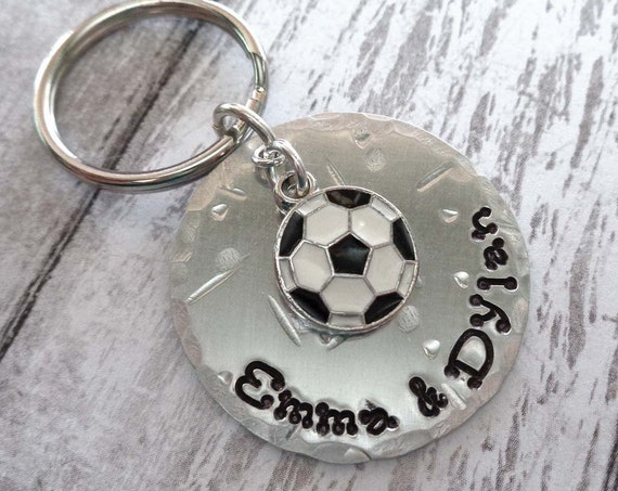 Soccer Keychain - Personalized Dad Father's Day Gift - Sport Keychain Football Soccer Mom - Soccer Team - Soccer Fan Gift
