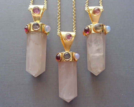 Rose Quartz Jewelry / Valentines Day Gift / Pink Love Stone / Gift of Love & Friendship / Chakra Point Rose Quartz