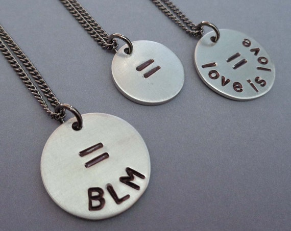 BLM / Love is Love / Equality Necklace / Social Justice / Unisex Equality Jewelry