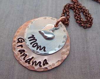 Grandma jewelry etsy mom grandma necklace mothers day gift grandma necklace mom grandma gift mom grandma jewelry grandma gift mixed metal jewelry s230 aloadofball Image collections