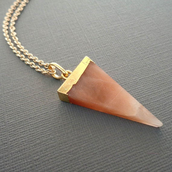 Yellow Aventurine / Triangle Pendant Necklace / Solar Plexus Stone / Balance Focus Creativity