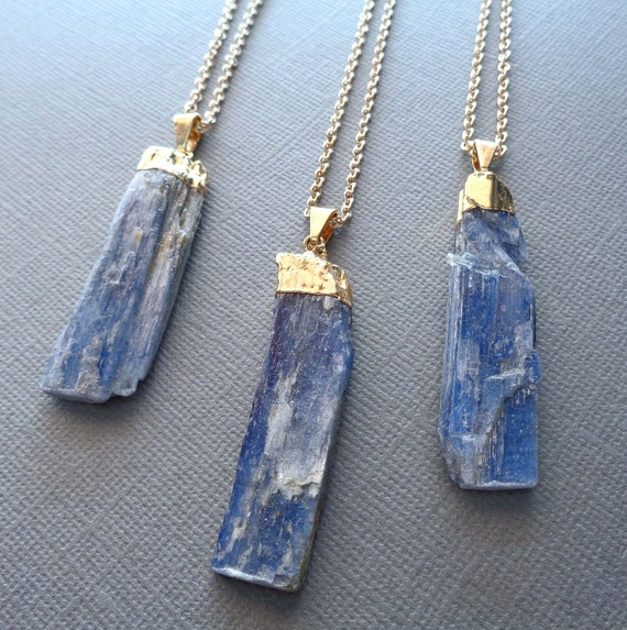 Blue Kyanite Necklace / Metaphysical Gift / Boho Necklace / Meditation Stone / Kyanite Blade Pendant