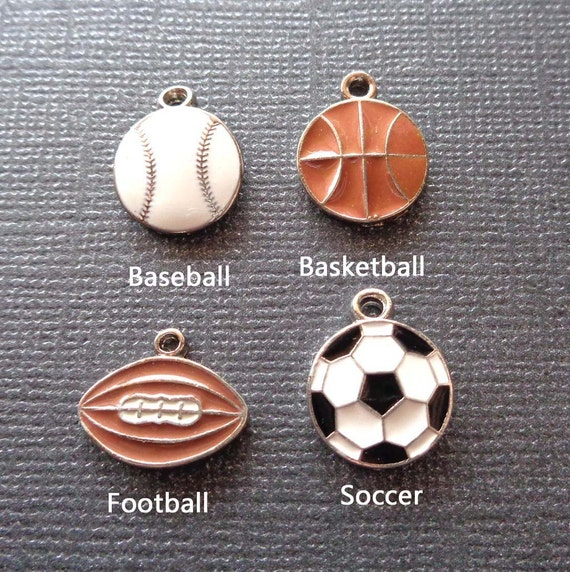 Add-on Sport Charm - Basketball Soccer Football charm- Sport Charm add on